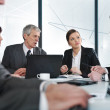 Business meeting and working — Stock Photo