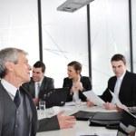 Senior businessman at a meeting. — Stock Photo