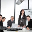 Stock Photo: Business group meeting portrait