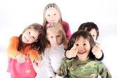 Studio oynak çocuk grup — Stok fotoğraf