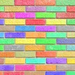 Colorful brick wall pattern background — Stock Photo