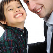 Portrait of happy father and son — Stock Photo