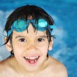 Little boy at swimming pool — Stock Photo #26255937