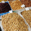 Dried fruits on market place, piazza, bazaar — Stock Photo #8844974