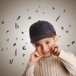 Boy with denim cap — Stock Photo #8846882