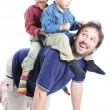 Happy family, father and sons — Stock Photo #9992791
