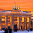 Berlin brandenburger tor winter sunset — Stock Photo #13465131