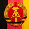 Stock Photo: Ddr gdr flag