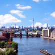 Aerial photo berlin skyline - Stock Photo