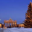 Berlin christmas brandenburg gate — Stock Photo #14513465
