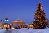 Berlin christmas brandenburg gate — Stock Photo