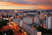 Berlin skyline sunset — Stock Photo