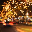 Christmas lights bokeh berlin — Stock Photo