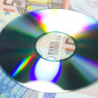 Data cd money — Stock Photo