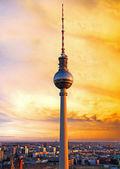 Torre de televisión de berlín — Foto de Stock