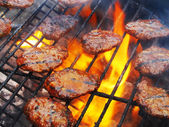 Barbecue grill steaks — Stock Photo
