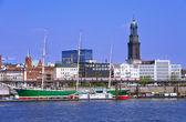 Puerto de hamburgo — Foto de Stock