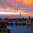Berlin spree skyline — Stock Photo