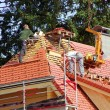 Stock Photo: Roofer tiler