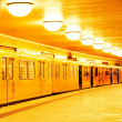 Passing subway train — Stock Photo