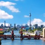 Aerial photo berlin skyline — Stock Photo #43904779