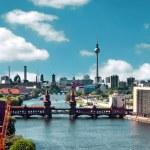 Aerial photo berlin skyline — Stock Photo #45593007