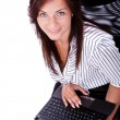 Beautiful businesswoman with laptop — Stock Photo
