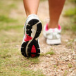 Female legs jogging on a trail — Stock Photo #12793599