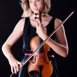 Woman with the violin - Stock Photo