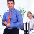 Stock Photo: Business partners is working in office