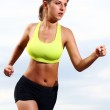 Running fitness girl — Stock Photo
