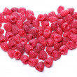 Heart made out of raspberries — Stock Photo
