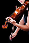 Vrouw met de viool — Stockfoto