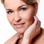 Portrait of beautiful mid aged woman — Stock Photo