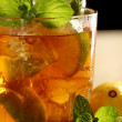 Fresh cold tea with lime, mint and lemon — Stock Photo #16851947
