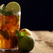 Fresh cold tea with lime, mint and lemon — Stock Photo #16851967