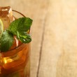 Fresh cold tea with lime, mint and lemon — Stock Photo #16852009