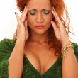 Royalty-Free Stock Photo: Atractive redhead woman have a headache