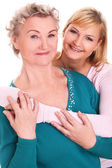 Happy granny and granddaughter together — Stock Photo