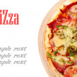 Image of fresh italian pizza isolated — Lizenzfreies Foto