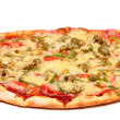 Image of fresh italian pizza isolated - Stock Photo