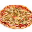 Image of fresh italian pizza isolated — Stock Photo