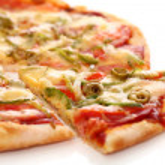 Image of fresh italian pizza isolated — Stock Photo