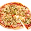 Stock Photo: Image of fresh italian pizza isolated