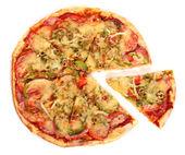 Bild von frische italienische pizza, isoliert — Stockfoto