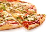 Imagem de pizza italiana fresco isolado — Foto Stock