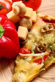Nahaufnahme der leckere italienische pizza mit gemüse — Stockfoto