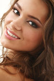 Young beautifil latino woman smiling — Stock Photo