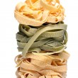 Fresh and tasty tagliatelli — Stock Photo