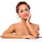 Beautiful natural middle aged woman — Stock Photo